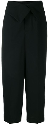 Enfold Folded Waistband Cropped Trousers