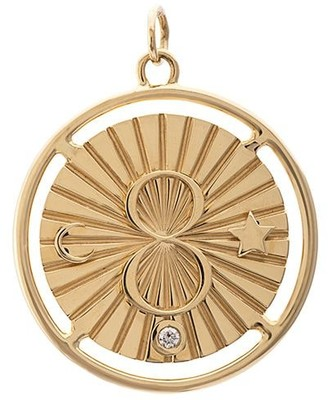Foundrae 18kt yellow gold large 28mm Karma medallion necklace