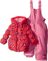 Pink Platinum Baby Girls Big Floral Print Snowsuit