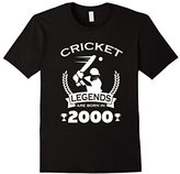 Men's Cricket Legends Are Born In 2000 Birthday Gift T-shirt 2XL