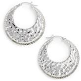 Judith Jack Women's Hammered Hoop Earrings