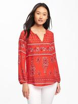 Old Navy Relaxed Shirred Blouse for Women
