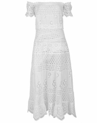 Temptation Positano Malta Off Shoulder Tea Length Dress