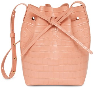 Mansur Gavriel Mini Bucket Bag - Coral