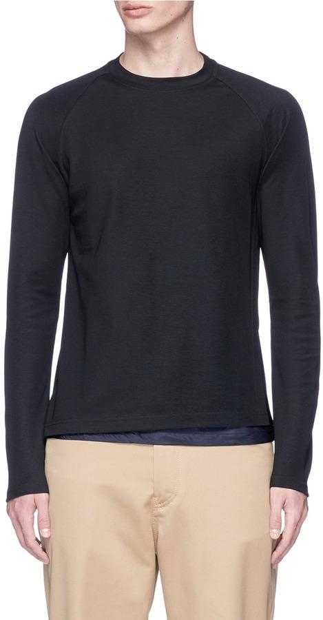 Kolor Cupro underlay long sleeve T-shirt