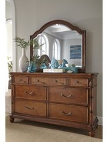 Panama Jack Isle Of Palms 7 Drawer Double Dresser with Mirror Home Color: Brown