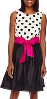 R & K Originals R&K Originals Sleeveless Polka Dot Pleated Party Dress