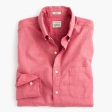 J.Crew Secret Wash shirt in red heather poplin