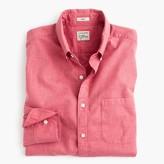 J.Crew Tall Secret Wash shirt in red heather poplin