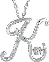 FINE JEWELRY Love in Motion Diamond-Accent Sterling Silver K Pendant Necklace