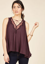 ModCloth In It for the Accents Sleeveless Top in S
