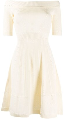 DSQUARED2 open-knit flared dress