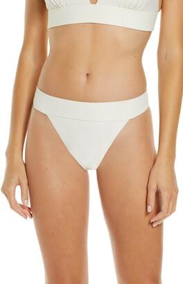 Chelsea28 Banded Textured Bikini Bottoms