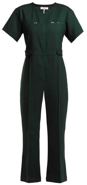 Sea Tradition Technical Fabric Jumpsuit - Womens - Dark Green