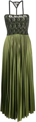 Christopher Kane Lace-Panel Pleated Midi-Dress