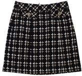 Trina Turk Black Patterned Cotton Skirt