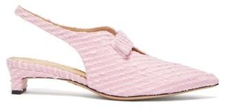 Emilia Wickstead X Charlotte Olympia Slingback Boucle Pumps - Womens - Pink