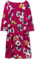 Joules 3/4 sleeves printed jersey shift dress