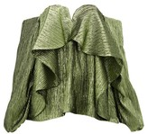 Thumbnail for your product : Halpern Metallic Draped Lame Bustier Blouse - Green