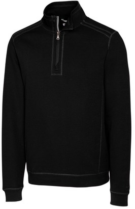Cutter & Buck Men's Big and Tall Bayview Half-Zip 100% Cotton Pullover