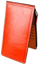 ABC® 1099 ABC® Fashion Women Men Wallet Leather Purse Ultra-thin Multifunctional Wallet