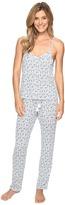 Lucky Brand Crochet Inserts Cami Pajama Set