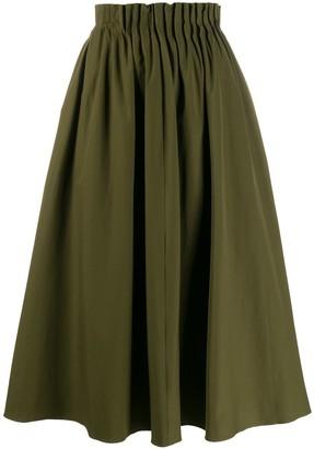 Marni pleated waist midi skirt