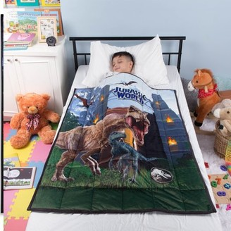 "Jurassic World Kids Weighted Blanket, Super Soft Plush Bedding, 36"" x 48"" 4.5lbs, Black"