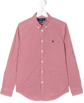 Ralph Lauren classic checked shirt - kids - Cotton - 14 yrs