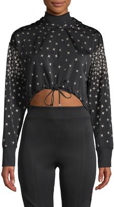 Koral Activewear Star-Print Hooded Sweatshirt