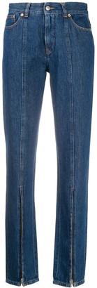 MM6 MAISON MARGIELA Zip-Detail Straight-Leg Jeans