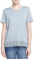 The Kooples Embroidered Eyelet Tee