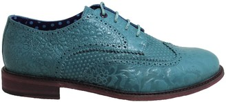 Lords Of Harlech Follie Brogue In Teal