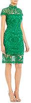 Tadashi Shoji Mock Neck Lace Sheath Dress