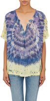 Raquel Allegra WOMEN'S TIE-DYED SILK BLOUSE-PURPLE SIZE 0