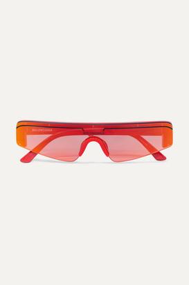 Balenciaga Ski Square-frame Acetate Mirrored Sunglasses