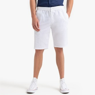 La Redoute Collections Cotton Bermuda Shorts with Elasticated Waist