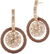 Alor Petra 18K & Stainless Steel 0.53 Ct. Tw. Diamond Cable Drop Earrings