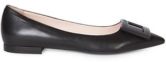 Roger Vivier Gommettine Leather Flats