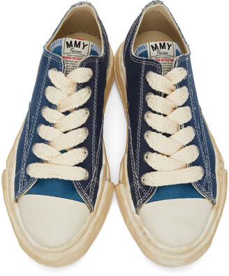 Miharayasuhiro Blue Over-Dyed OG Sole Peterson Sneakers