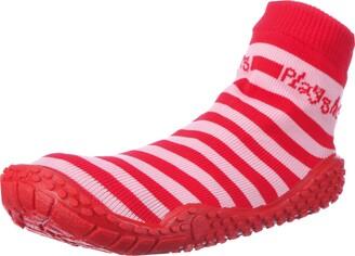 Playshoes Unisex-Child UV Protection Aqua Socks Stripes Bathing Beach Thong Sandals and Pool Shoes 174802 Blue/Green 4 Child UK (20/21 EU)