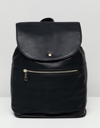 Asos Design DESIGN soft backpack with zip detail