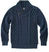 Lucky Brand Blueberry Shawl-Collar Sweater - Girls
