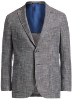 Saks Fifth Avenue Multicolor Tweed Sportcoat