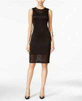 Thalia Sodi Mesh-Trim Illusion Sheath Dress