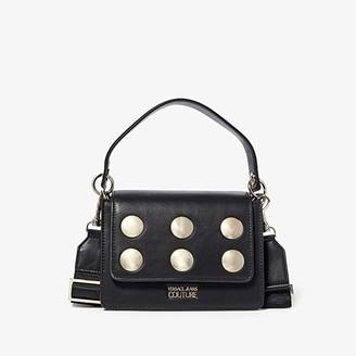 Versace Eco Leather Satchel (Black) Handbags