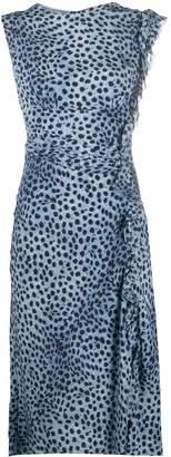 Ermanno Scervino ruched detail leopard print dress