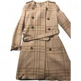 Burberry Beige Wool Coats