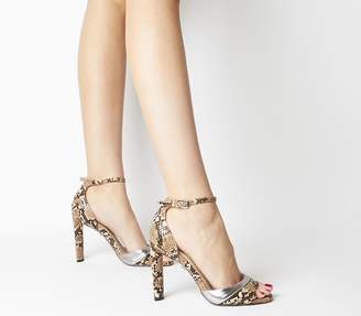 Office Hila Wf Ankle Strap Sandals Natural Snake