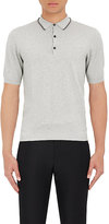 Lanvin MEN'S COTTON-SILK POLO SHIRT